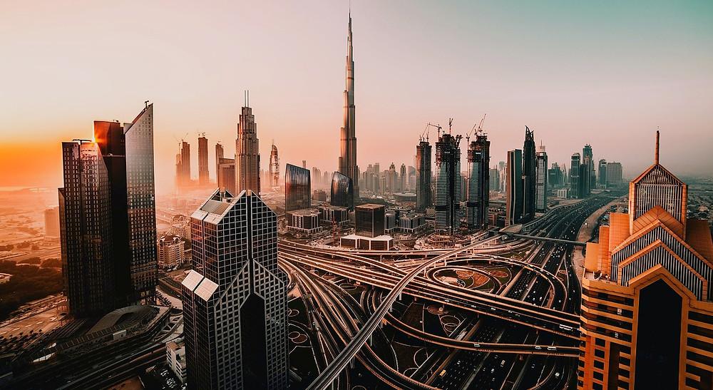 วิวนครดูไบ บุรจญ์เคาะลีฟะฮ์ ตึกสูง ตึกสูงที่สุดในโลก ดูไบ