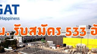 การไฟฟ้าฝ่ายผลิต เปิดรับสมัคร วุฒิ ปวช. - ป.โท 533 อัตรา