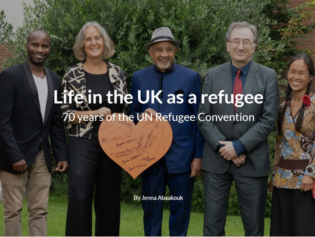 Co-Chair Cheryl Andrews interviewed for fantstic article on Life in the UK as a Refugee