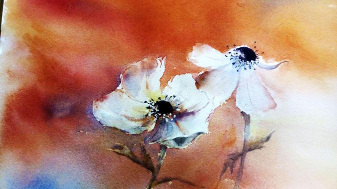 Peinture aquarelle fleur