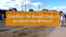 Ceasefire in the time of COVID-19 an opportunity for Peace?