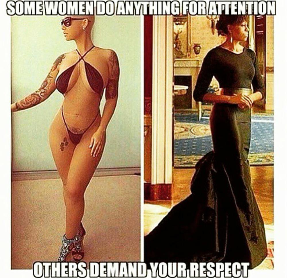 Amber Rose and Michelle Obama comparison