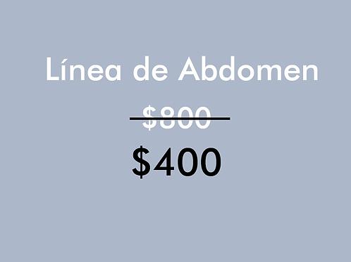 Línea de Abdomen (1 Sesión)