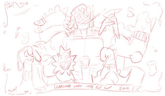 Christmas Kup - Roughs 3