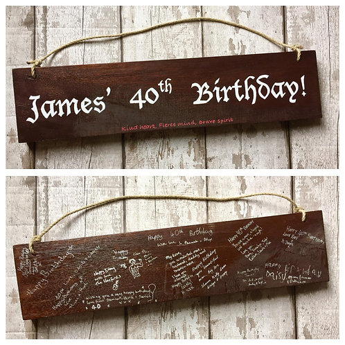 Milestone Birthday Guestbook Signs