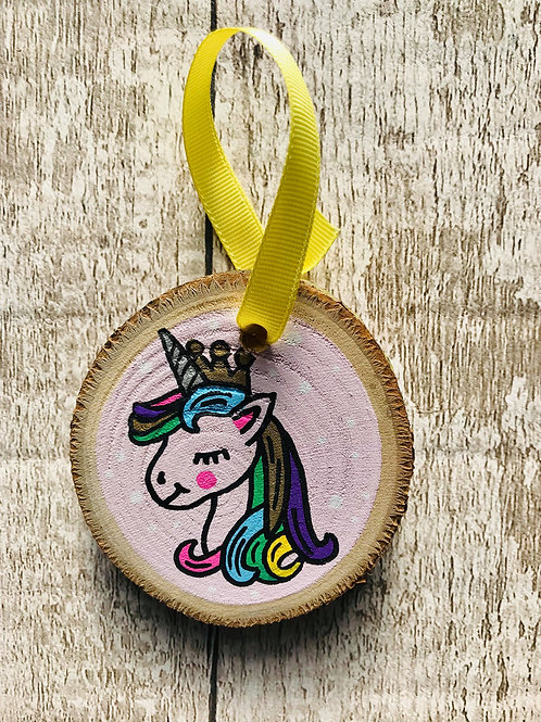 Childs personalised unicorn tree ornament