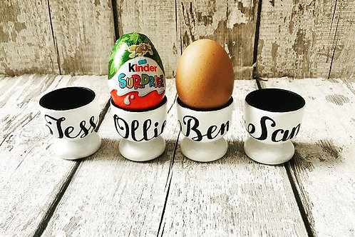 Wooden personalised egg ups