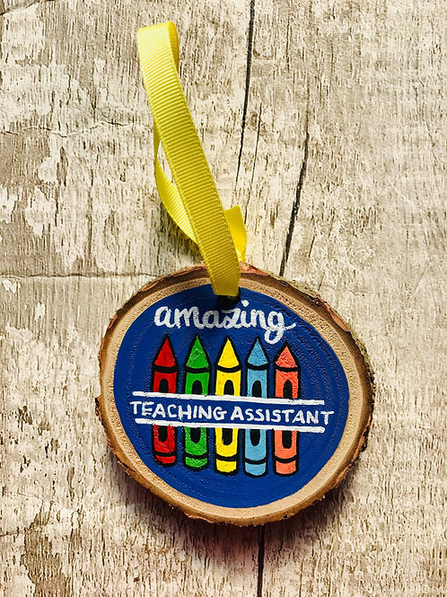 Teaching Assistant tree ornament