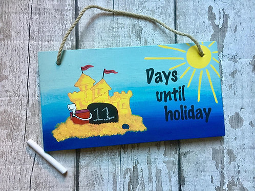 Holiday chalkboard countdown sign