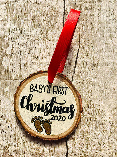 'Baby's first Christmas' tree ornament