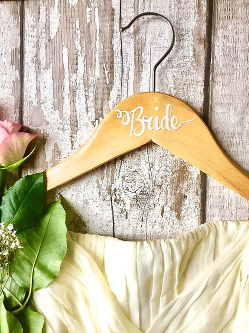 Set of 4 bridal/groom party hangers