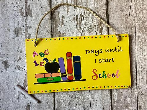 Children's school countdown chalkboard sign