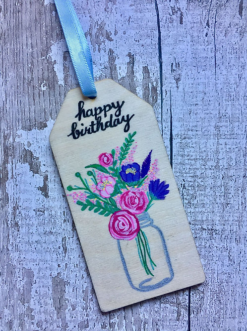 Wooden rectangle gift tags
