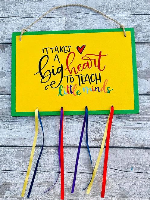 A3 wooden teachers appreciation sign