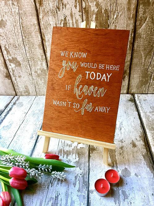 A4 wedding memorial wooden sign
