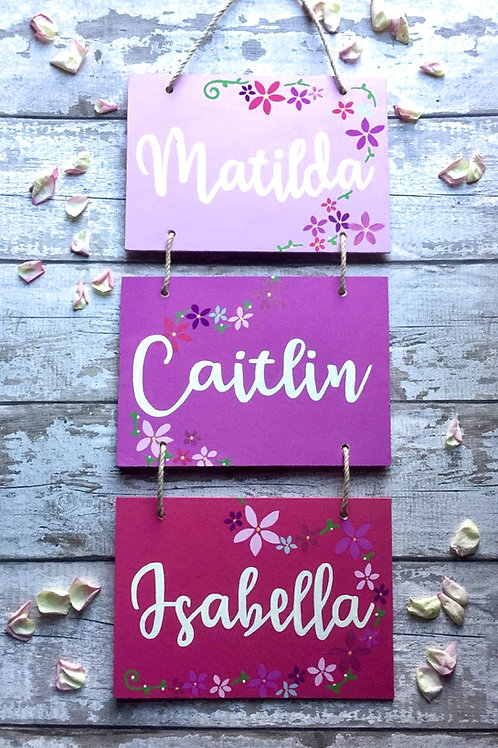 Bespoke 3 tier wall hanging plaques