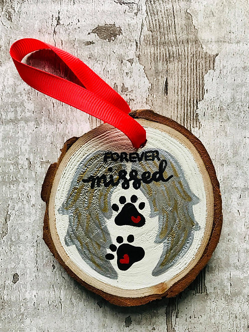 Personalised pet memorial tree ornament