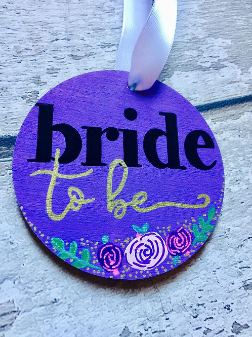 Wooden 'bride to be' medallion