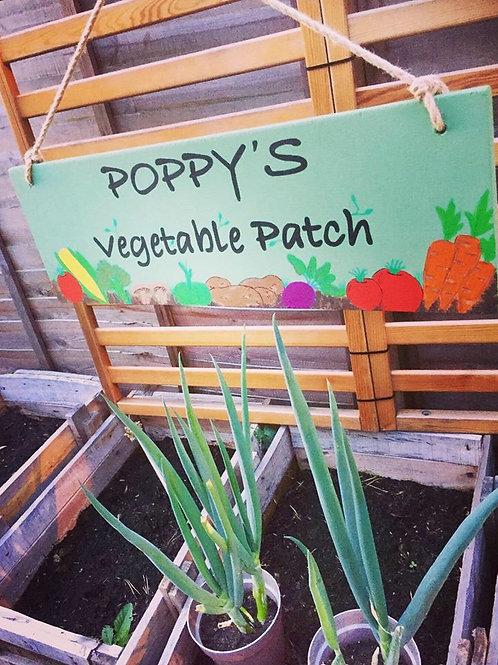 Children's Vegetable patch/garden sign