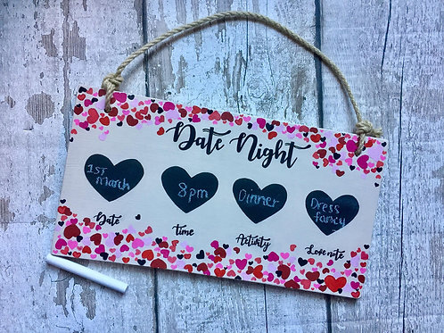 Couples date night chalkboard sign