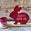 Thumbnail: Personalised wooden Easter bunny with egg cup