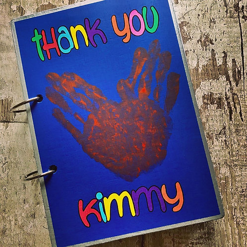 Personalised 'thank you...' wooden teacher book