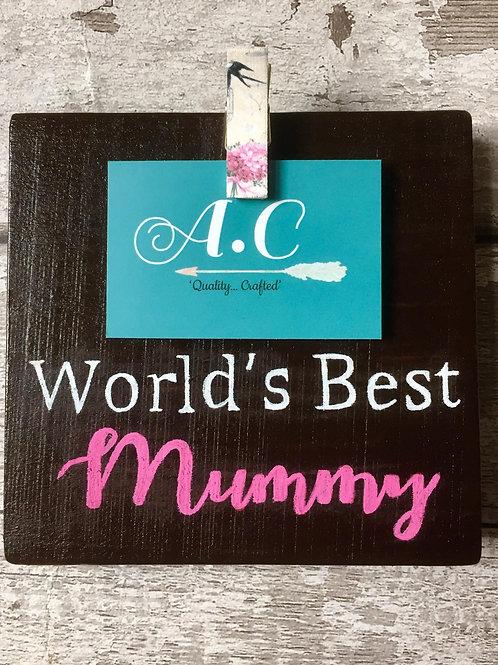'world's best mummy' personalised photo holder