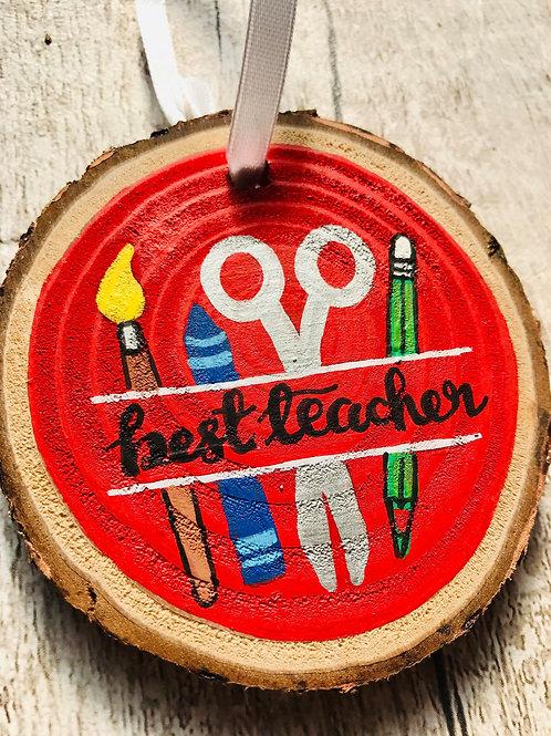 Best Teacher tree ornament