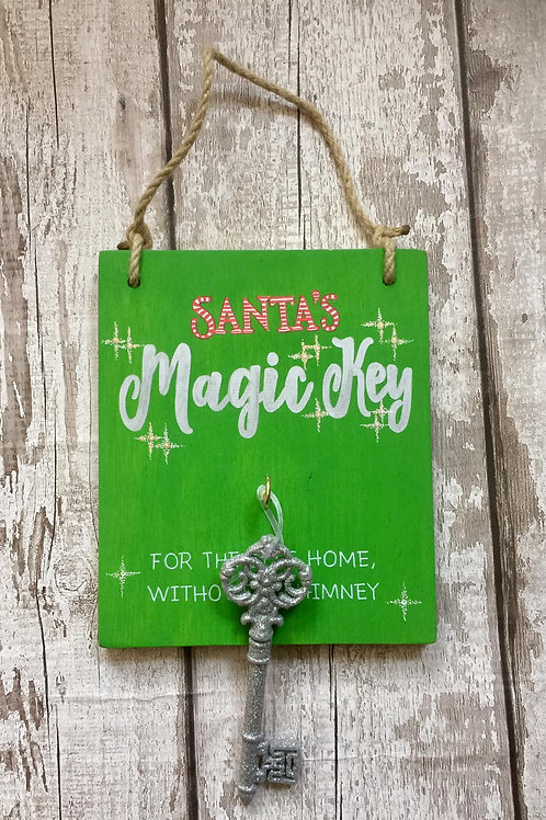 Magic Santa Key, for homes without a chimney