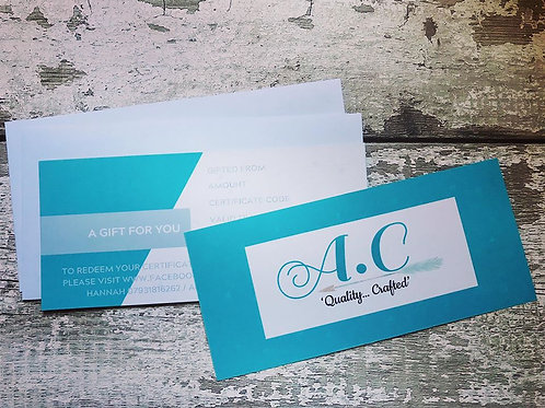Gift Vouchers, starting from £10