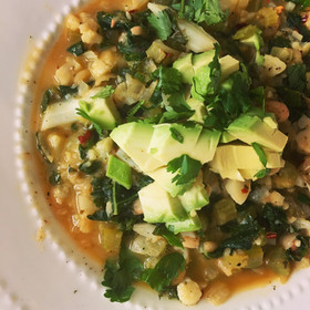 Superfood White Bean Avocado Chili