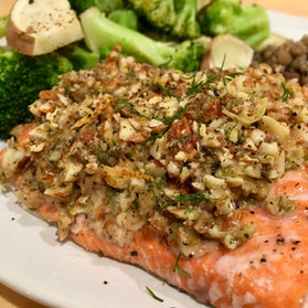 Almond Encrusted Salmon