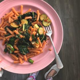 Kale & Zucchini Protein Pasta