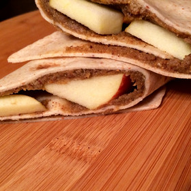 Cinnamon Apple Almond Butter Wraps