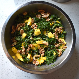 Mango Walnut Kale Salad