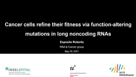 Roberta Esposito presentation at the RNA Society 2021 Conference!