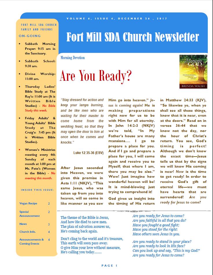 FMSDA News 12/26/2017