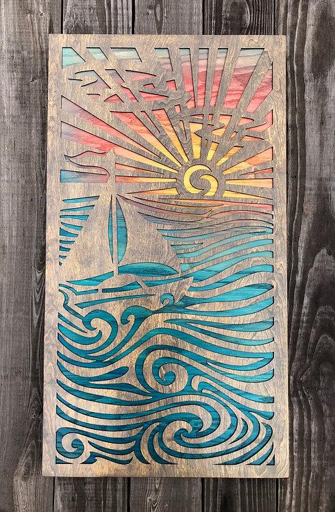 Sunny Sails | 18 x 33in