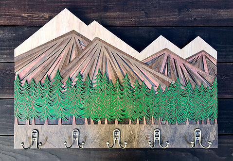 Mountain Treeline | coat rack