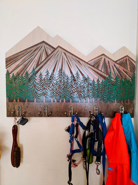 """Mountain Heart"" coat rack"