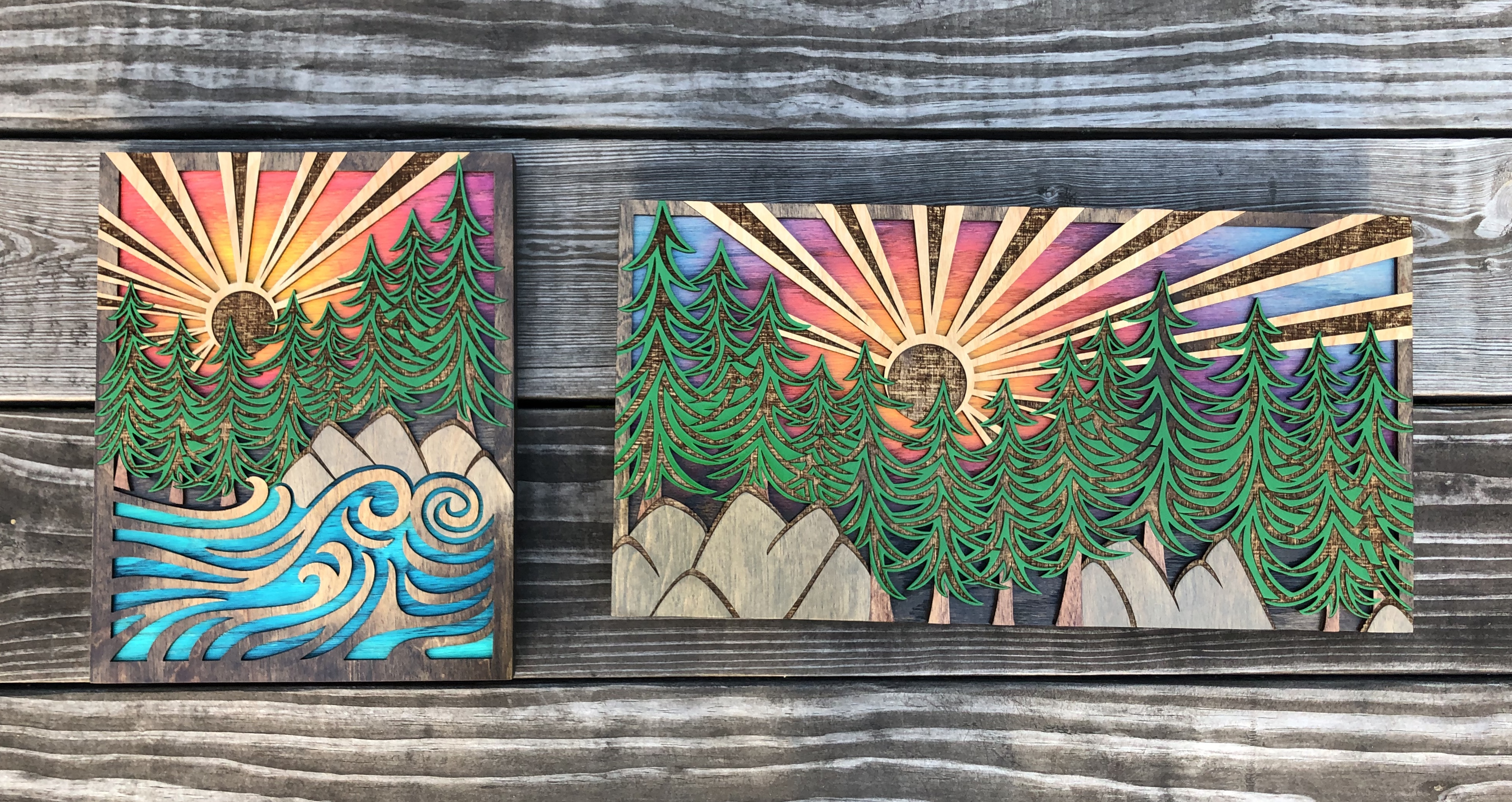 """Ocean Forest"" and ""Forest View"""