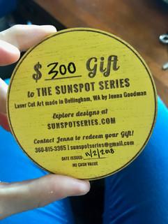 Sunspot Gift Certificates