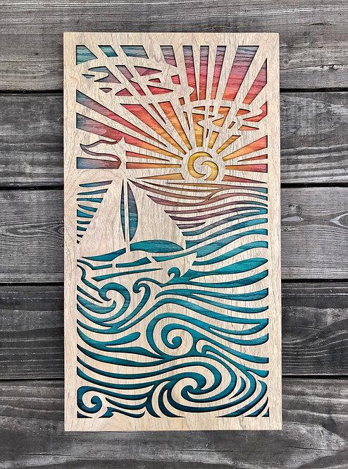 Sunny Sails | 10 x 18in