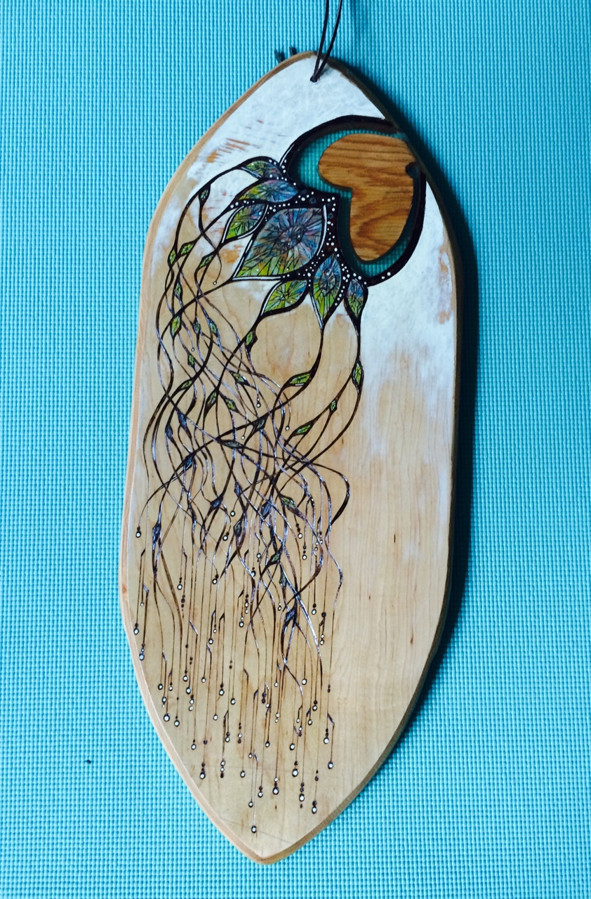Wood Burned Balance Board