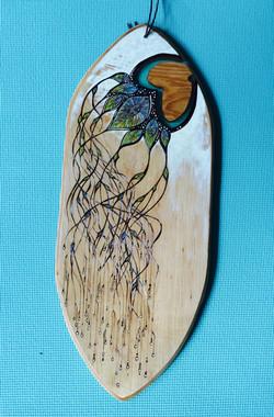Wood Burned Balance Board