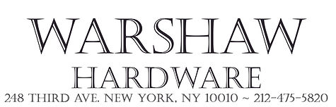 Warshaw Hardware, serving the Gramercy neighborhood's hardware needs since 1925