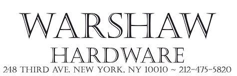 Warshaw Hardware, serving the Gramercy neighborhood's hardware needs since 1925