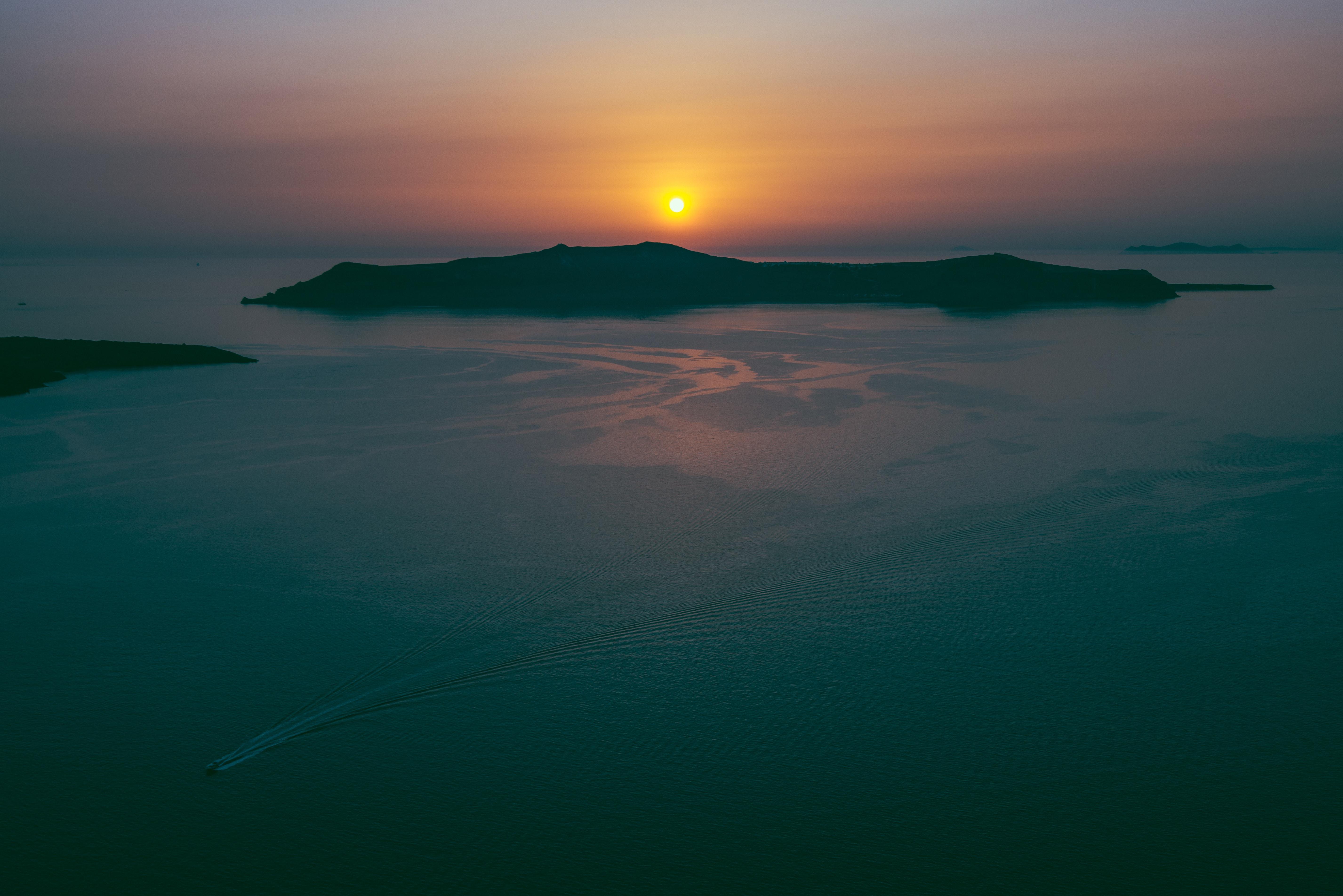 sailwith santorini sunset
