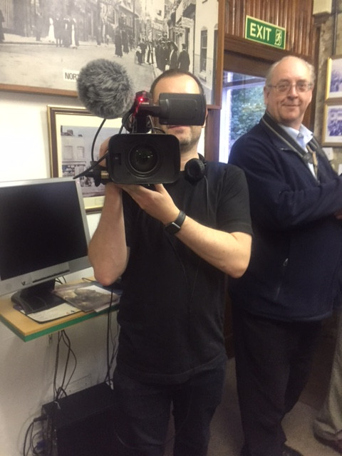 David Johnson filming at Baldock's Mill