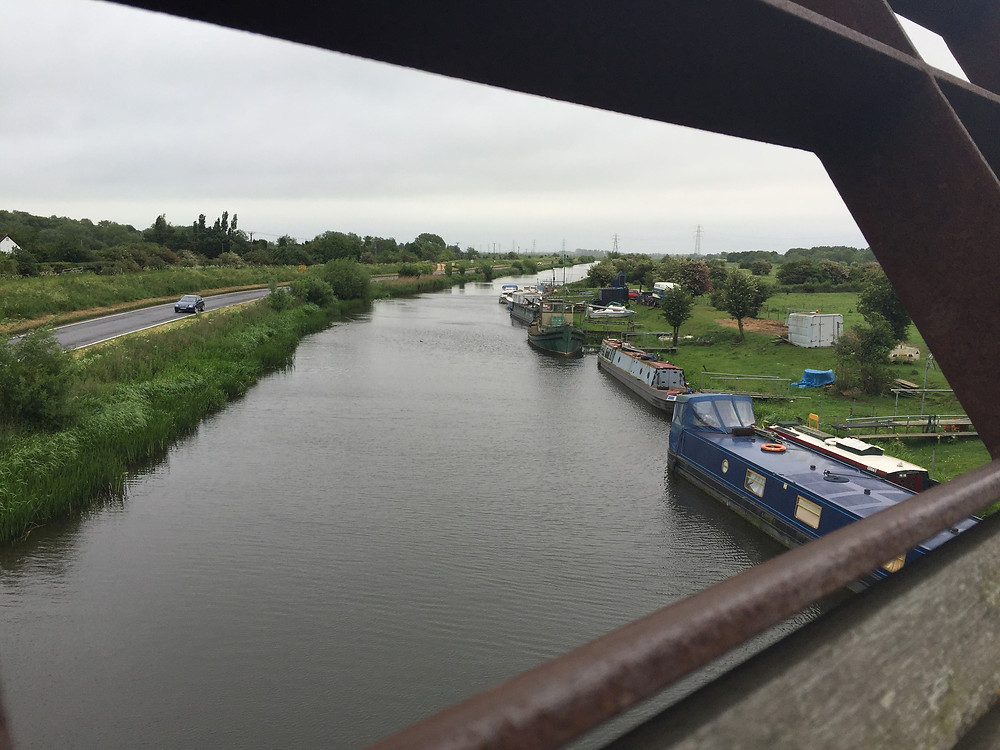 From Millennium Bridge crossing to Whittlesey looking due east